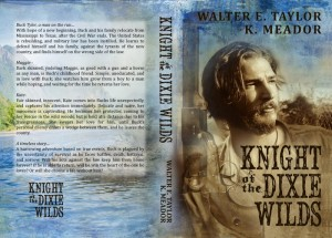 The Knight of the Dixie Wilds front and back of book